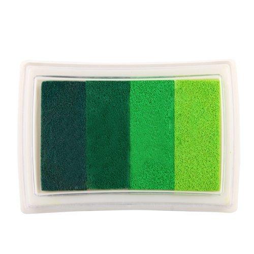 sonline-inkpad-craft-multi-colori-verde-gradiente-4-x-cuscinetto-per-timbri-base-di-olio