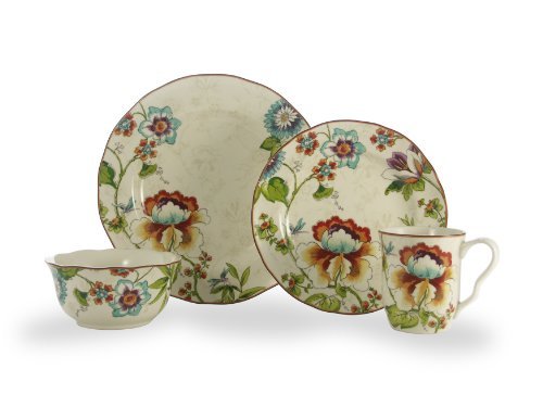 222 5th Bella Vista 16-Piece Round Dinnerware Set, Service for 4