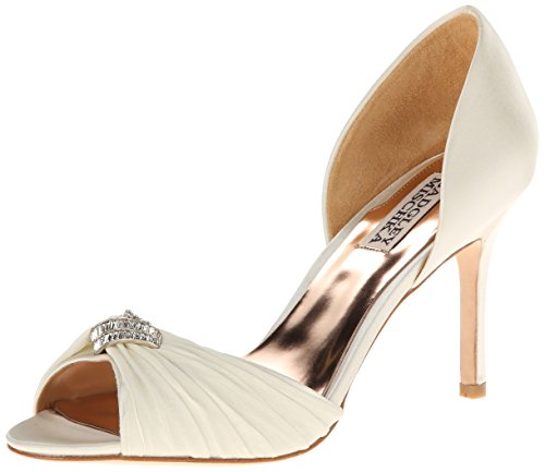Badgley Mischka Women's Jennifer D'Orsay Pump,Ivory,7.5 M US