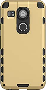 Nexus 5X Back Cover, JACKET Ultimate Protection, Drop Tested, Enhanced Grip Protective Case Back Case Cover For Google Nexus 5X (Gold)