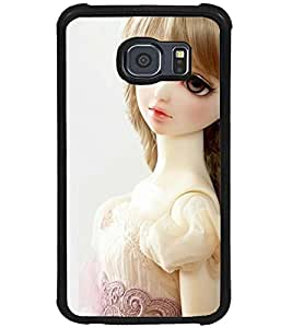 Printvisa Baby Doll Dressed Up In White Back Case Cover for Samsung Galaxy S6::Samsung Galaxy S6 G920