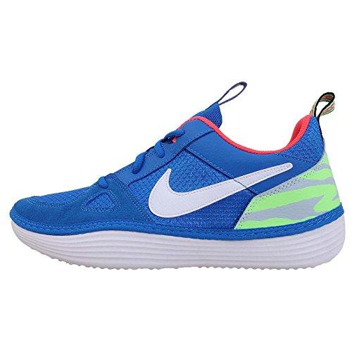 Nike Men'S Solarsoft Run, Photo Blue/White-Electric Green, 11 M Us