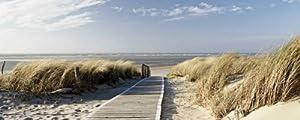 Premium Glasbilder Artland Glas Bild günstig Landschaften Strand Eva Gruendemann Nordseestrand auf Langeoog Größe 50 x 125 cm Riesenauswahl in unsrem Händlershop!Bewertungen