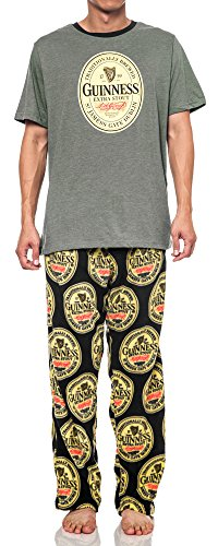 guinness-beer-mens-pajama-set-graphic-print-t-shirt-fleece-pants-2pc-2xl