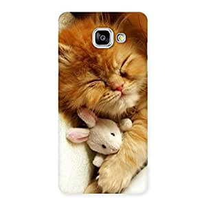 Gorgeous Sleeping Cat with Bunny Multicolor Back Case Cover for Galaxy A5 2016