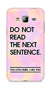 AMEZ do not read the next sentence i like you Back Cover For Samsung Galaxy J3 (2016 EDITION)