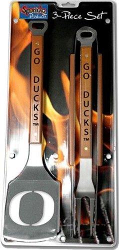 Sportula® 3 Piece Stainless Steel BBQ Set, Oregon Ducks