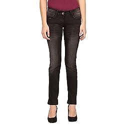 Species Women's Slim Fit Jeans (S-731_Black_X-Large)