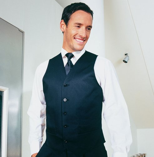 Premier Men's Hospitality Sleeveless Smart Workwear Waiter Waistcoat Mens