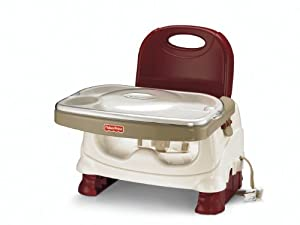 Fisher-Price Deluxe Booster Seat, Red/White