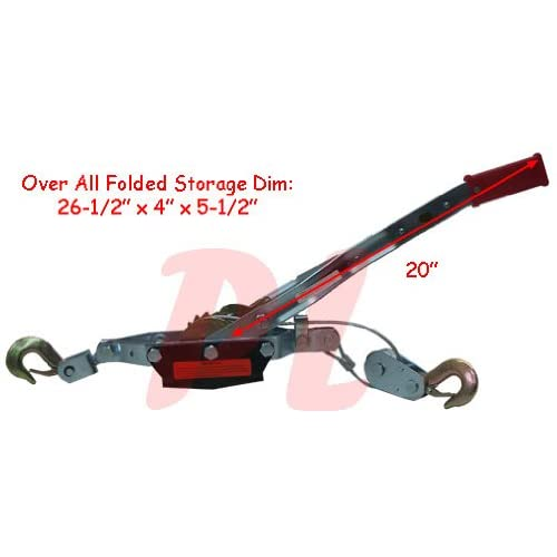 4 Ton Hand Cable Puller Winch Come Along Ratchet Wire Rope