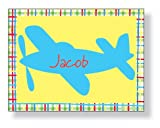 Inkwell - Folded Note Personalized Stationery (Airplane)