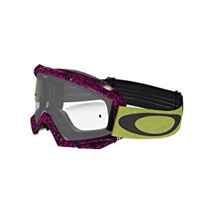 Oakley Proven MX Viper Room Goggles with Neon Print Frame (Black Frame/Clear Lens)