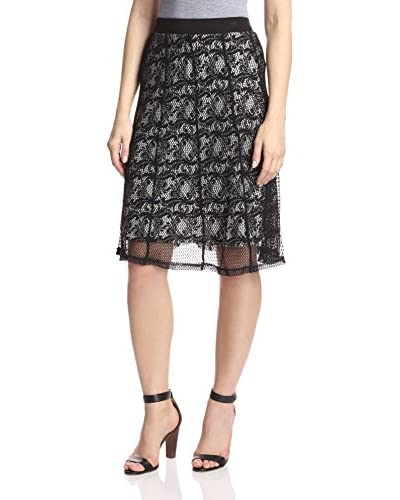 Lapis Women's Lace Midi Skirt