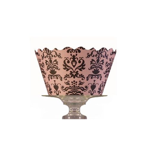 Bella Cupcake Couture Mini Cupcake Wrappers Pink Lu Lu, 18-Pack front-472885