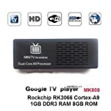 Kagu Mini Computer,1080P Dual-core Android 4.1 TV Box MK808 Mini PC RK3066 1GB DRR3+8GB Nand Flash Black