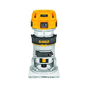 DEWALT DWP611 1.25 HP Max Torque Variable Speed Compact Router with LED's