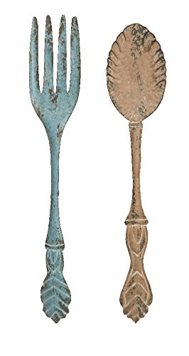 Imax 89036-2 Fork And Spoon Wall Decor, Set Of 2