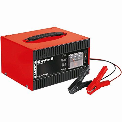 Einhell-carica-batterie-CC-BC-5-amperometro-tensione-di-carica-per-batterie-da-16-A-80-Ah-12-V-integrato-Maniglia