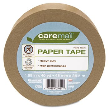 Caremail Self-Adhesive Paper Tape, 1.88 Inches x 40 Yards, Single Roll (1119059) (Paper Packaging Tape compare prices)
