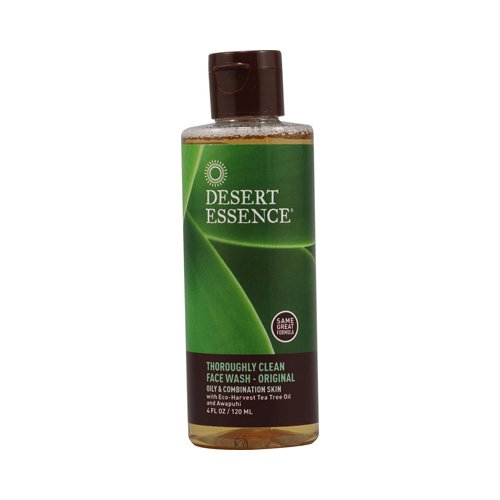 Desert Essence Thoroughly Clean Face Wash - Original - 4 Fl Oz, [Cosmetics, Cleansers]