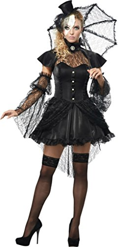 California Costumes Womens Sexy Victorian Doll Black Parasol Halloween Dress