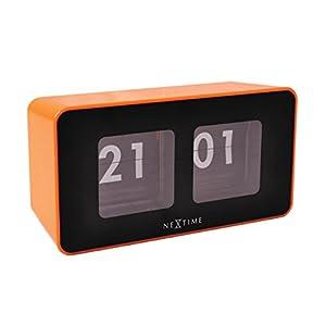 nextime horloge palettes en plastique orange cuisine maison. Black Bedroom Furniture Sets. Home Design Ideas