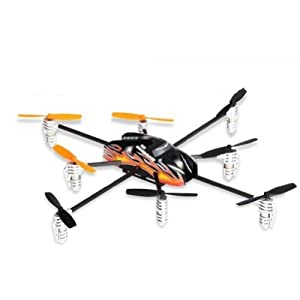 Walkera Qr Spacewalker Y8 8 Blades UFO -Y8 Telemetry Function Multicopter with Devo 7 Transmitter RTF from Walkera