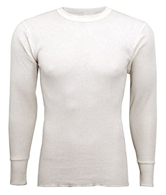 Indera - Mens Tall Long Sleeve Thermal Top, 800LS,Natural,Large Tall