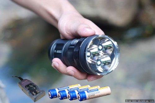 Nitecore Tm11 Tiny Monster (V2) - 2000 Lumen Led Flashlight With 4 Jetbeam 18650 Batteries & Ultrafire Wf-139 Charger Kit