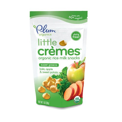 Plum Organic Little Cremes Organic Rice Milk Shake Meltable Baby Snack - Super Greens