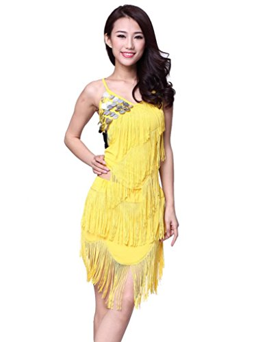 ZLTdream Women's Tassels Latin Dance Top And Skirt 2pcs/set