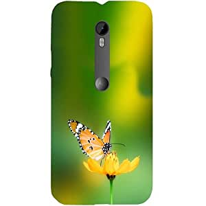 Casotec Butterfly Design Hard Back Case Cover for Motorola Moto G 3rd Generation