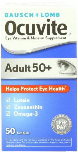 Ocuvite Adult 50+ Vitamin & Mineral Supplement, 50-Count Soft Gels