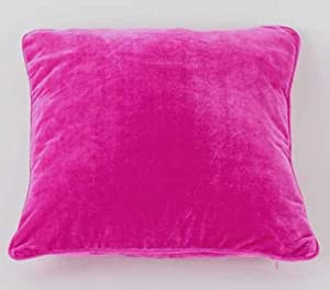 Fuschia Modern Pillows : Modern Velvet Plain Cushion Cover 56X56s Hot Pink / Fuschia: Amazon.ca: Home & Kitchen