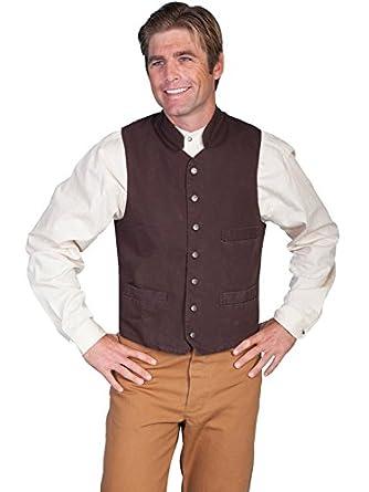 Victorian Men's Vests and Waistcoats Standup Round Collar Vest  AT vintagedancer.com
