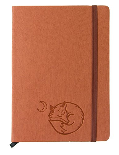 red-co-journal-with-embossed-fox-240-pages-5x-7-lined-rust-orange