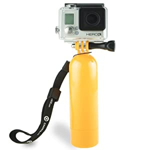 GoPro Bobber by CamKix - Floating Hand Grip with Camera and Tripod Mount for GoPro Hero 1, 2, 3, and 3+ (Yellow)