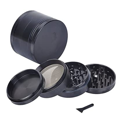 "2.2"" 4pc Tobacco Spice Herb Grinder Black from Generic"
