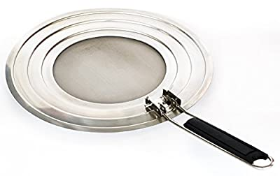 Stainless Steel Splatter Screen To Shield Against Oil and Grease from your Frying Pan or Skillet when Cooking in your Kitchen.Guard against mess with a screen that is Dishwasher safe and easy to store