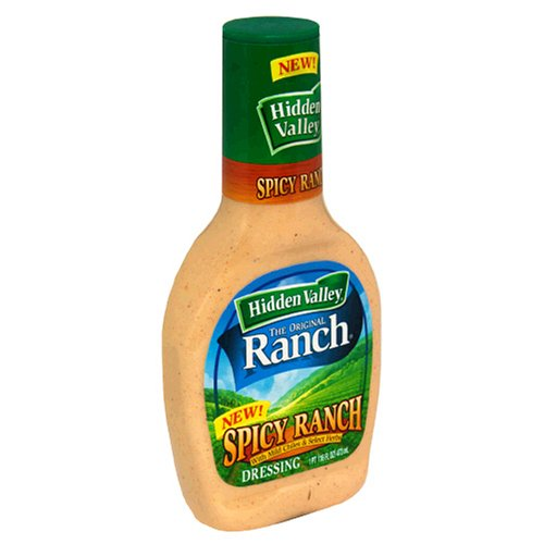 Hidden Valley Ranch Dressing, Spicy, 16-Ounce Bottles (Pack of 6)
