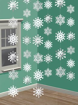 Amscan Snowflake String Decorations - 1