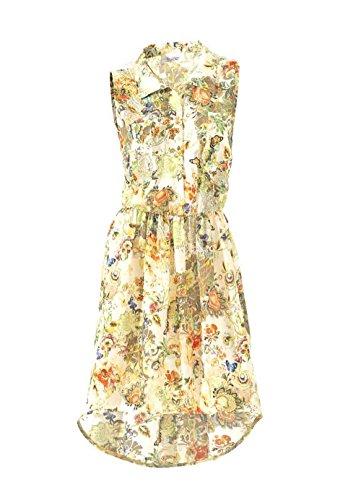 Linea Tesini Damen-Kleid Georgette-Druckkleid Mehrfarbig Größe 34