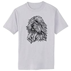 Polish Sheepdog Dog Art T-Shirt, Youth S, Ash