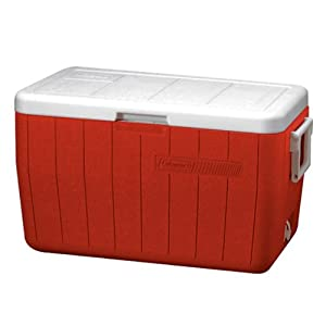 Coleman 48-Quart Cooler, Red
