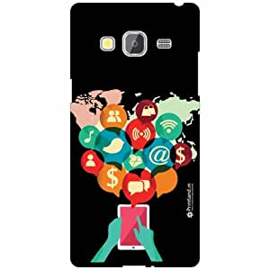 Printland Back Cover For Samsung Z3 - Silicon Press Designer Cases