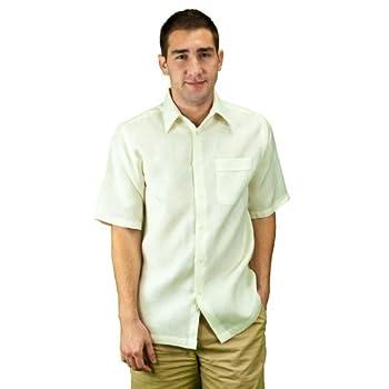 Mens linen shirt ivory.