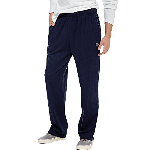 Champion Authentic Men's Open Bottom Jersey Pants_Navy_X-Large