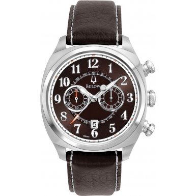 Bulova 96B161 Mens Adventurer Chronograph Brown Watch