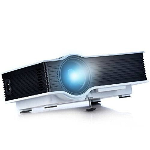 ERISAN Updated Full Color 130 Inch Multi-media Pro Mini Portable LED Video Projector – 800 Lumens /Support 1080P/HDMI/USB/SD/Built-in Speaker/ LCD Home Theater Game Outdoor Camping Halloween Party Business Projector